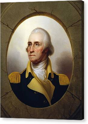 General Washington - Porthole Portrait  Canvas Print by War Is Hell Store