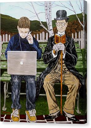 Generation Gap Canvas Print by Troy Rohn