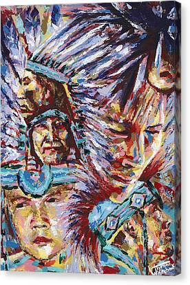 Generations Canvas Print by Tyrone Whitehawk