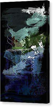 Genesis Day Five  Creatures Canvas Print by Francois Domain