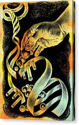 Genetic Engineering Canvas Print by Leon Zernitsky