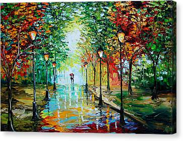 Gentle Rain Canvas Print by Beata Sasik