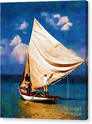 Gentle Winds Canvas Print by Diane E Berry