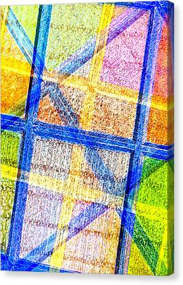 Geometric And Colorful  Canvas Print by Tom Gowanlock