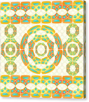 Geometric Composition Canvas Print by Gaspar Avila