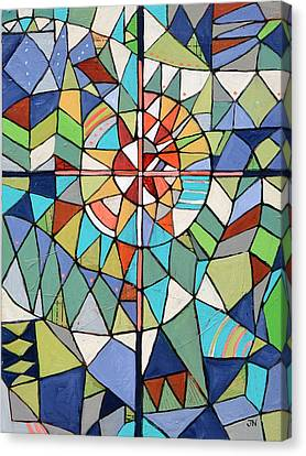 Geometric Cross Canvas Print by Jen Norton