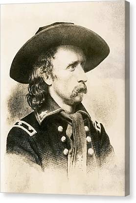George Armstrong Custer  Canvas Print by War Is Hell Store