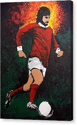George Best Canvas Print by Barry Mullan