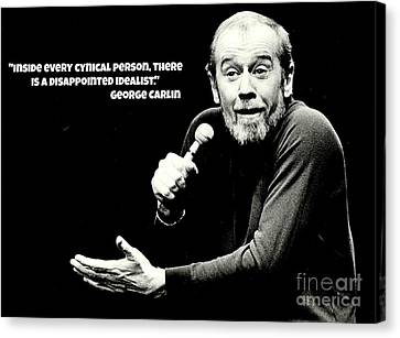 George Carlin Art  Canvas Print by Pd