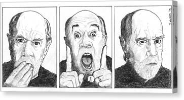 George Carlin  Canvas Print by Jeremy Waters