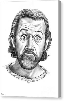 George Carlin Canvas Print by Murphy Elliott