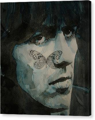 George Harrison @ Butterfly Canvas Print by Paul Lovering