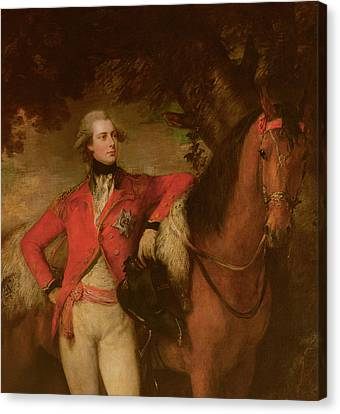 George Iv As Prince Of Wales Canvas Print by Thomas Gainsborough