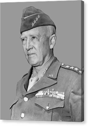 George S. Patton Canvas Print by War Is Hell Store