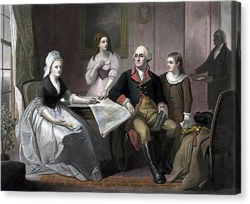 George Washington And His Family Canvas Print by War Is Hell Store
