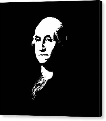 George Washington Black And White Canvas Print by War Is Hell Store