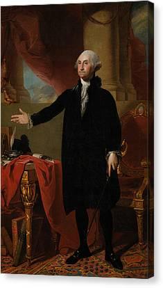 George Washington Lansdowne Portrait Canvas Print by War Is Hell Store