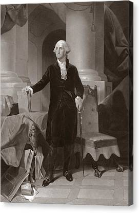 George Washington Canvas Print by Peter Frederick Rothermel