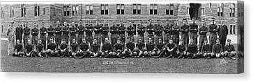 Georgetown U Football Squad Canvas Print by Panoramic Images