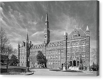 Georgetown University Healy Hall Canvas Print by University Icons