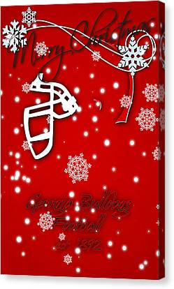 Georgia Bulldogs Christmas Card Canvas Print by Joe Hamilton