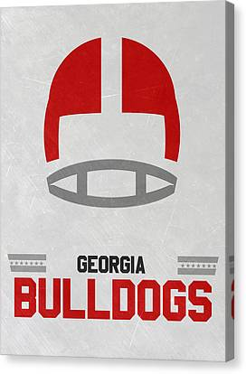Georgia Bulldogs Vintage Football Art Canvas Print by Joe Hamilton