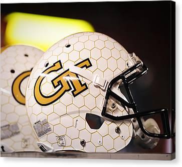Georgia Tech Football Helmet Canvas Print by Replay Photos