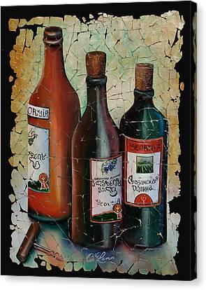 Georgian Wine Fresco Painting  Canvas Print by OLenaArt Lena Owens