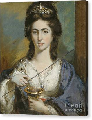 Georgiana Spencer Duchess Of Devonshire Canvas Print by Celestial Images