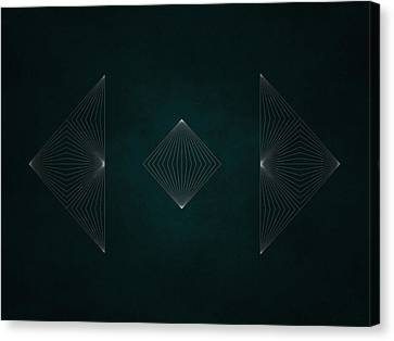 Geosymmetry 2i Canvas Print by Edouard Coleman