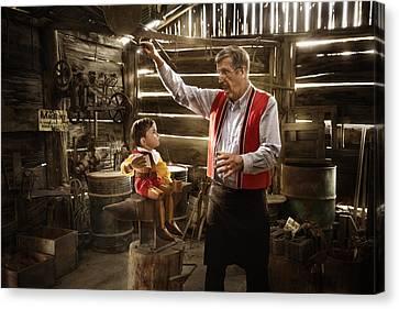 Geppetto's Workshop Canvas Print by Karen Alsop