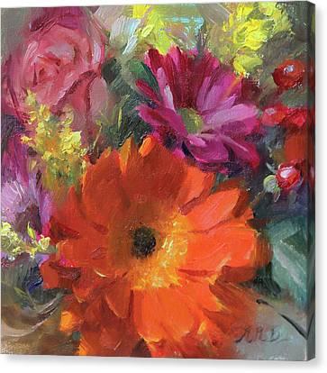Gerber Daisy Study Canvas Print by Anna Rose Bain