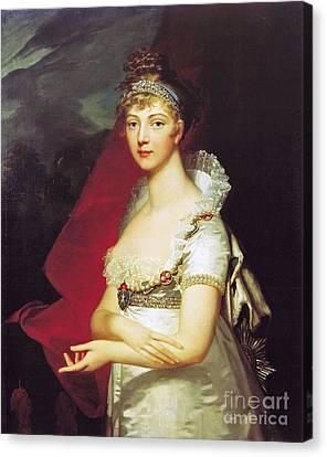 German Born Princess Louise Of Baden Canvas Print by Jean Laurent