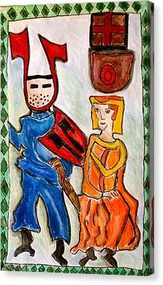German Castle Painting Canvas Print by Susan Stader