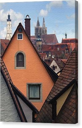 German Rooftops Canvas Print by Sharon Foster