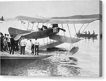German Seaplane Used In The North Sea Canvas Print by Vintage Design Pics