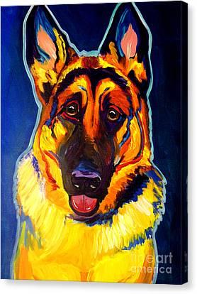 German Shepherd - Sengen Canvas Print by Alicia VanNoy Call