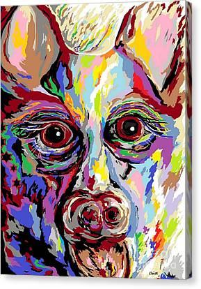 German Shepherd Canvas Print by Eloise Schneider
