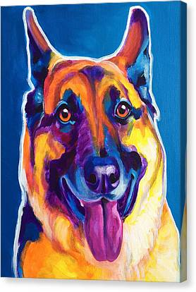 German Shepherd - Hector Canvas Print by Alicia VanNoy Call