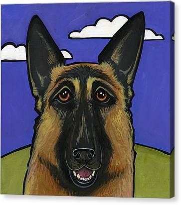 German Shepherd Canvas Print by Leanne Wilkes