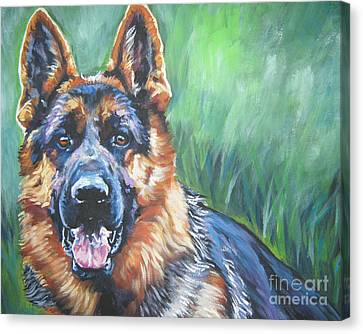 German Shepherd Canvas Print by Lee Ann Shepard