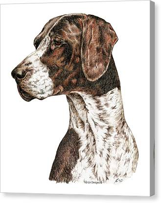 German Shorthaired Pointer Canvas Print by Kathleen Sepulveda