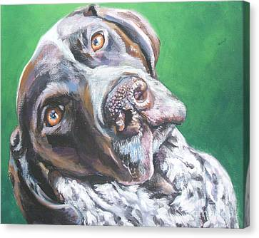 German Shorthaired Pointer Canvas Print by Lee Ann Shepard
