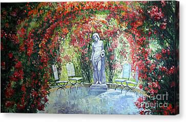 Germany Baden-baden Rosengarten 02 Canvas Print by Yuriy  Shevchuk