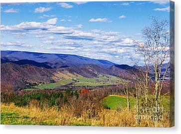 Germany Valley Heaven Canvas Print by Teena Bowers