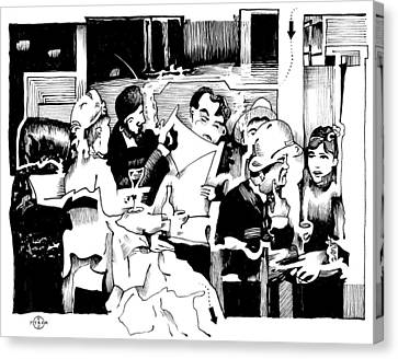 Gervex Paris Cafe Canvas Print by Gary Peterson