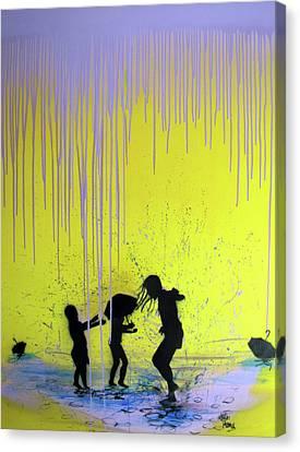 Get Your Feet Wet Canvas Print by Robert Wolverton Jr