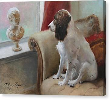 Getting Acquainted Canvas Print by Anna Rose Bain