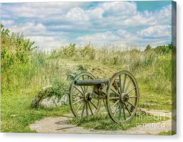 Gettysburg Battlefield Cannon Ver Two Canvas Print by Randy Steele