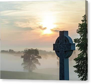 Gettysburg Battlefield Sunrise Canvas Print by Bill Caldwell